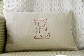 the farmer s nest embroidered pillow diy