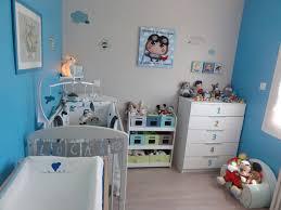chambre bébé garçon photo 1 6 bleu gris