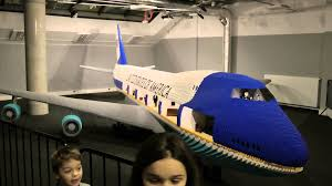 marceltoys lego exhibition in warsaw air force one built with