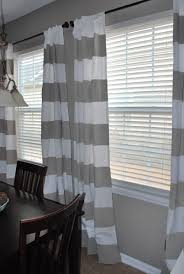 diy striped painted curtains matching wall color for the home