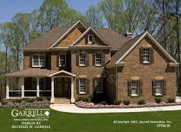 two house plans with front porch garrell associates inc oxford e house plan 07256 front