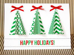 make christmas cards greeting cards christmas tree cards 16 handmade christmas cards