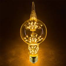Decorative Led Lights For Homes Led Fireworks Bulb G80 Decorative Alien Light Bulb 10 Watt