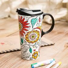 Colorado Travel Cups images Just add colour ceramic colour your own travel mug nature dexam jpg