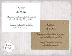 wedding reception invitation wording wedding invitation templates