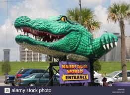 mardi gras alligator alligator figure at entrance to blaine kern s mardi gras world in