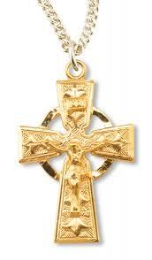 celtic crucifix gold plated celtic crucifix pendant