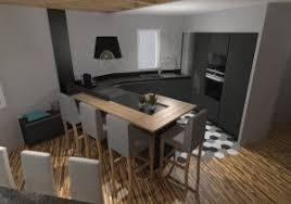 cuisine bois gris moderne cuisine anthracite et bois fashion designs con cuisine gris