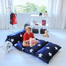 pillow bed for kids amazon com kids floor pillow fold out lounger fabric cover for bed