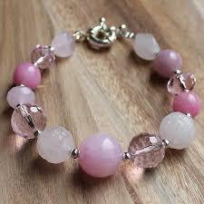 rose quartz stone bracelet images Multi stone natural pink rose quartz agate crystal semi jpg