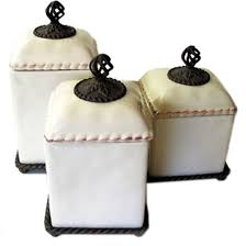 brown kitchen canisters gg collection set of 3 ceramic barcelona canisters