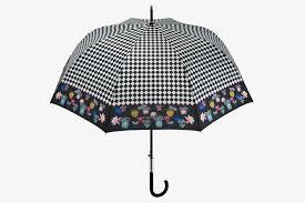 gingham print umbrella with floral border shop perletti
