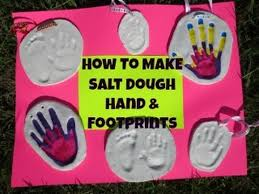 how to make salt dough handprint footprint plaques diy