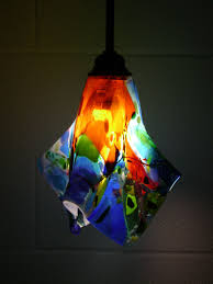 Pendant Light Replacement Glass by We Created Three Very Unique And Colorful Fused Glass Pendant