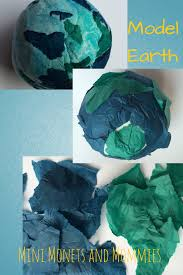 model magic and tissue paper planet art project tissue paper