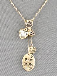 gold mother necklace images Gold plated and crystal mothers day charm necklace mothers day jpg