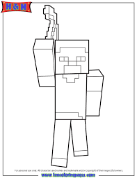 herobrine pickaxe coloring u0026 coloring pages