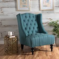 Teal Accent Chair Clarice Wingback Fabric Accent Chair Teal
