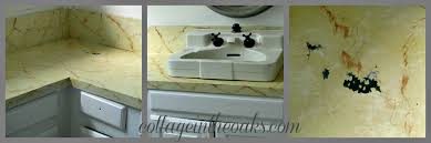 Cement Bathroom Sink - faux cement concrete painted countertops cottage in the oaks