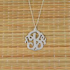 monogrammed pendant personalized single initial monogram necklace