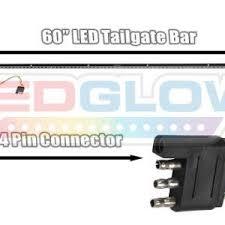 60 inch led light bar 60 inch red tailgate led light bar with white reverse lights 0 0