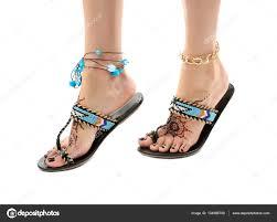 female legs with henna tattoo u2014 stock photo belchonock 134986700