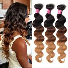ombre weave human ombre wave hair 3 bundles weave three
