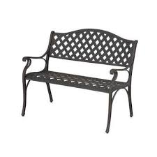 Black Iron Outdoor Furniture by Metal Patio Furniture Outdoor Benches Patio Chairs The Home