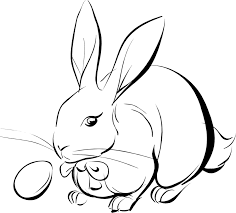 easter bunny coloring page chuckbutt com