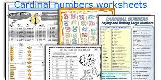 english teaching worksheets cardinal numbers