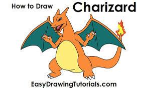 draw charizard pokemon jpg
