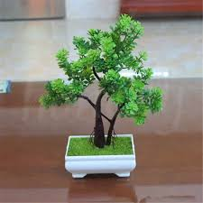 artificial plastic tree potted plant bonsai ornament home garden