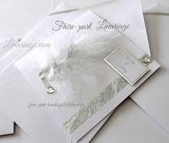 faire part mariage et blanc faire part mariage plume et diamants en blanc et argent faire