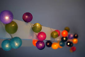 tonal coloured cotton string lights lights lights and