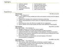 Resume For Restaurant Cashier Fast Food Job Description For Resume Contemporary Restaurant