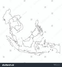 asian aec map outline country stock vector 725373133 shutterstock