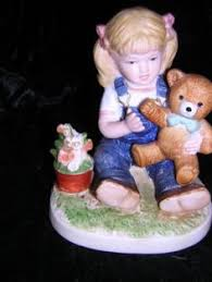 denim days home interior denim days figurine no 1509 gathering eggs 1985 denim days
