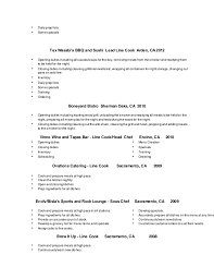 Sample Line Cook Resume by Terrific Breakfast Cook Resume 43 For Your Simple Resume With
