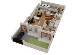 House Design Plans 3d Stupefy 3D Floor RoomSketcher Home Ideas 20