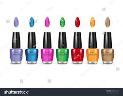 nail polish different colors vector illustration stock vector