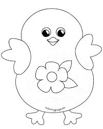 coloring happy easter flower cartoon coloring page