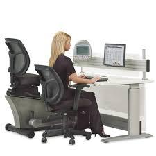 Offic Desk The Elliptical Machine Office Desk Hammacher Schlemmer