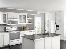 White Kitchen Cabinet White Kitchen Cabinets With Black Appliances