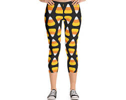 Candy Corn Halloween Costume Candy Corn Leggings Etsy