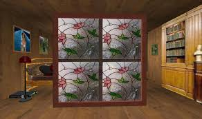 Glass Room Divider Second Life Marketplace Pink Flowers 2 Stained Glass Room