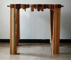 reclaimed wood parsons table by brett wagner retail design