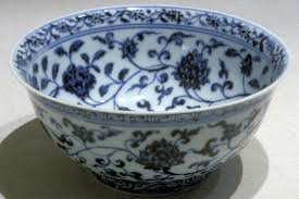 bowl with lotus and floral designs ming dynasty early 1400s