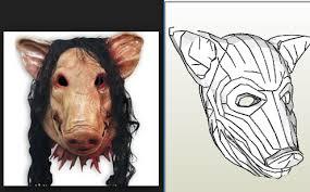 Saw Mask Saw Mask Pig In Pepakura Pdo