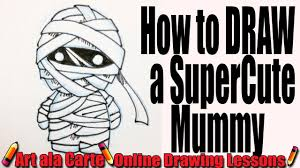 how to draw a super cute mummy youtube