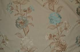 Duck Egg Blue Floral Curtains Embroidered Duck Egg Blue Floral Curtain Fabric Livingstone Textiles